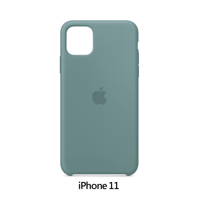 iPhone 11 矽膠保護殼 - 仙人掌色 Cactus (MXYW2FE/A)