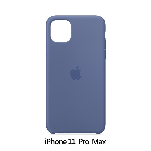 iPhone 11 Pro Max 矽膠保護殼 - 亞麻灰藍色 Linen Blue (MY122FE/A)