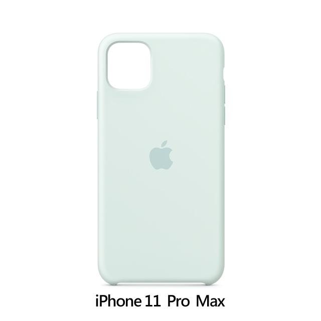 iPhone 11 Pro Max 矽膠保護殼 - 浪花綠色 Seafoam (MY102FE/A)