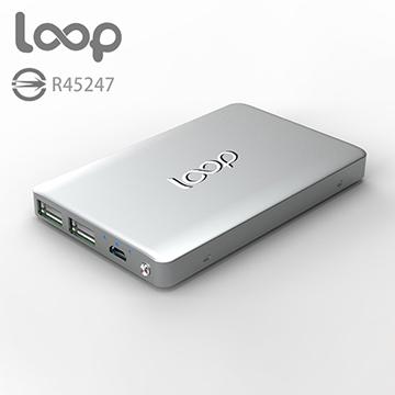 loop 10000mAh 超薄質感 鋁合金 行動電源