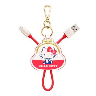 GARMMA Hello Kitty Apple Lightning皮革吊飾傳輸線 復古零錢包