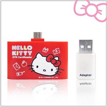 Hello Kitty 多功能行動OTG 讀卡機-魔女紅(KT-OR01RD)