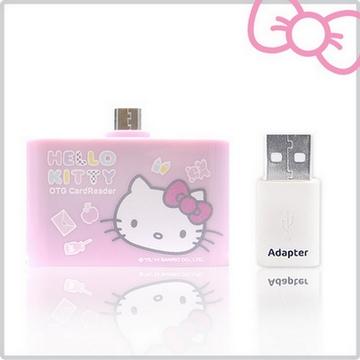 Hello Kitty 多功能行動OTG 讀卡機-夢幻粉(KT-OR01PN)