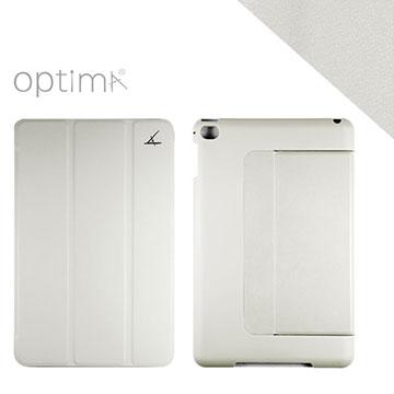 Optima iPad mini 4 多角度平板保護殼 - 典藏系列 - 灰白