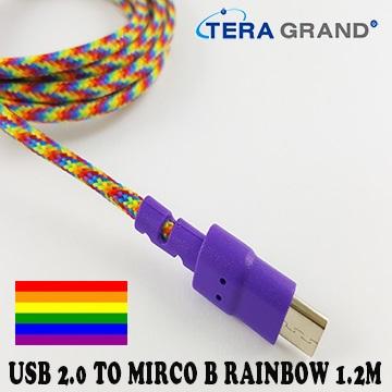 Tera Grand手機充電線傳輸(USB-WU70SR-RBOW)
