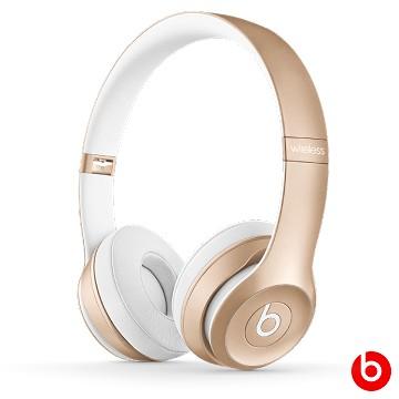 【拆封福利品】Beats Solo2 Wireless 無線藍牙耳罩式耳機-金