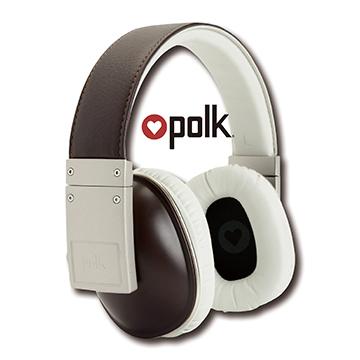 ◤真皮質感美國知名品牌◢【Polk Audio】buckle 真皮耳罩式線控耳機(棕色)