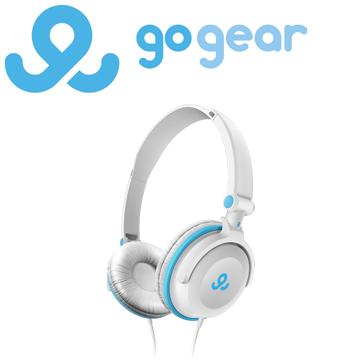 GoGear GHP3600 折疊式輕型頭戴式耳機 白