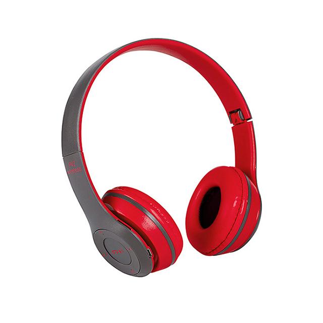 立體HIFI雙聲道 重低音 耳罩式藍牙耳機-紅