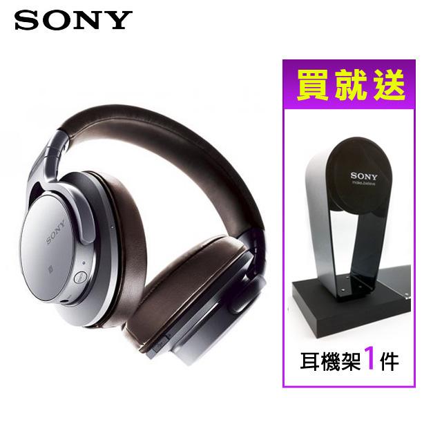 ★加贈原廠耳機架★SONY MDR-1ABT NFC無線藍牙耳罩式耳機 觸控設計 - 銀色