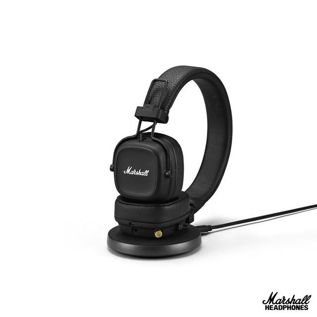 Marshall Major IV藍牙耳罩式耳機-經典黑