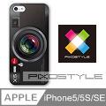 PIXOSTYLE iPhone 5/5s iPhone SE 保護殼 保護套 Style Case (黑相機造型款)