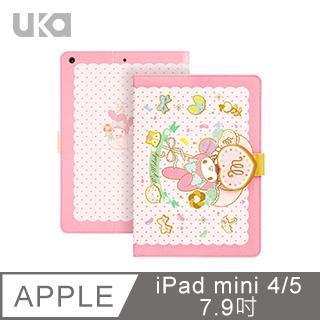 三麗鷗 Apple iPad mini 2019/mini 5 7.9吋 Kitty系列智能休眠可立式磁扣保護套 糖果美樂蒂