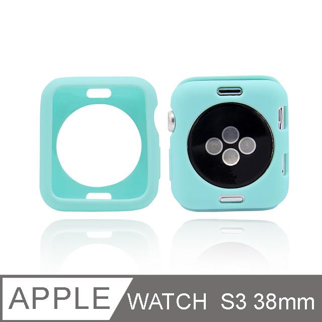 Apple Watch 糖果色手錶殼 S3 38mm 藍色