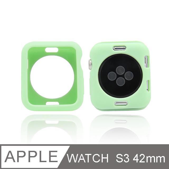 Apple Watch 糖果色手錶殼 S3 42mm 綠色