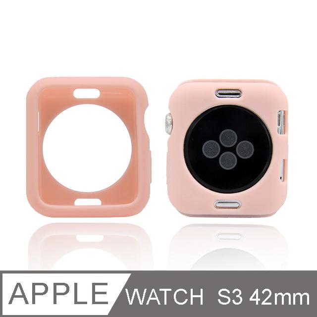 Apple Watch 糖果色手錶殼 S3 42mm 粉色