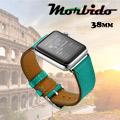 Morbido蒙彼多 玩色款Apple Watch 壓紋牛皮錶帶-38mm(綠)