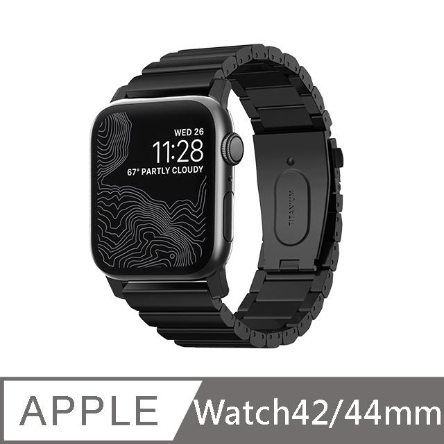 美國NOMAD 全球限量 Apple Watch 鈦金屬錶帶 -44/42mm (黑)Apple Watch Series  1.2.3.4.5.6(SE) 適用