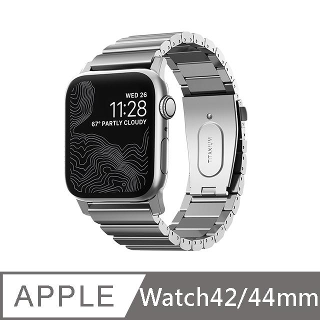 美國NOMAD 全球限量 Apple Watch 鈦金屬錶帶 -44/42mm (銀)Apple Watch Series  1-6代(SE)適用