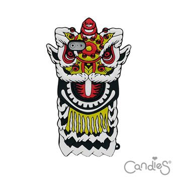 Candies iPhone6/ 6s Plus(5.5)猴年限定獅王爭霸手機殼(白)