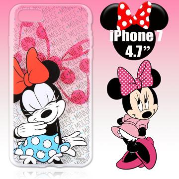 迪士尼限量授權 Apple iPhone 7 4.7吋 彩繪保護殼-歡樂米妮