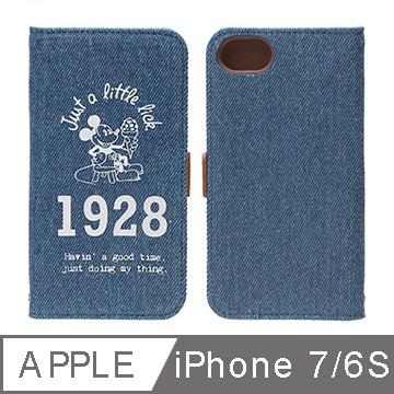 iJacket iPhone 7/6S 4.7吋迪士尼度假風1928米奇側翻皮套