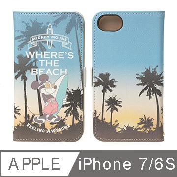 iJacket iPhone 7/6S 4.7吋迪士尼度假風度假米奇側翻皮套