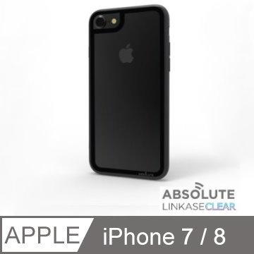 LINKASECLEAR iPhone 7/8 (4.7吋)專用 大猩猩9H奈米玻璃機身2x抗衝擊手機殼 ■簡約黑框黑邊