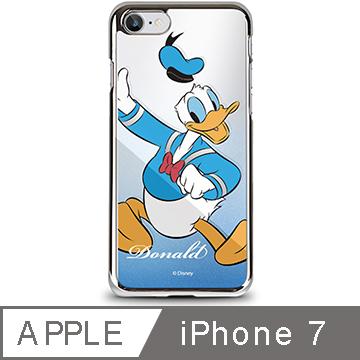 OpenBox iPhone 7 迪士尼金屬質感鏡面手機保護殼-歡樂唐老鴨