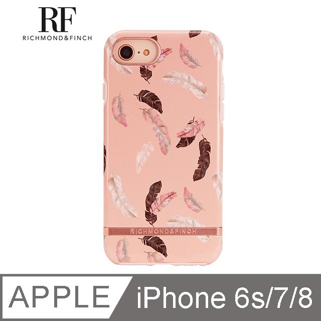 RF瑞典手機殼 玫瑰金線框-繽紛羽毛 - iPhone 6s/7/8 4.7吋