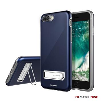 Matchnine iPhone 7 Plus隨身架全包覆手機保護殼(深藍)