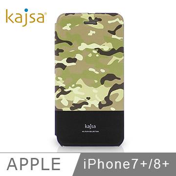 kajsa iPhone 7 plus(5.5吋)迷彩連蓋保護殼(深綠)