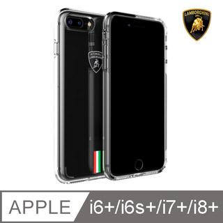 iPhone 6/7/8 Plus 藍寶堅尼 Gallardo原廠防摔系列保護殼 - 透明