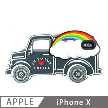 Candies 立體繽紛卡車手機殼(Rainbow) iPhone X