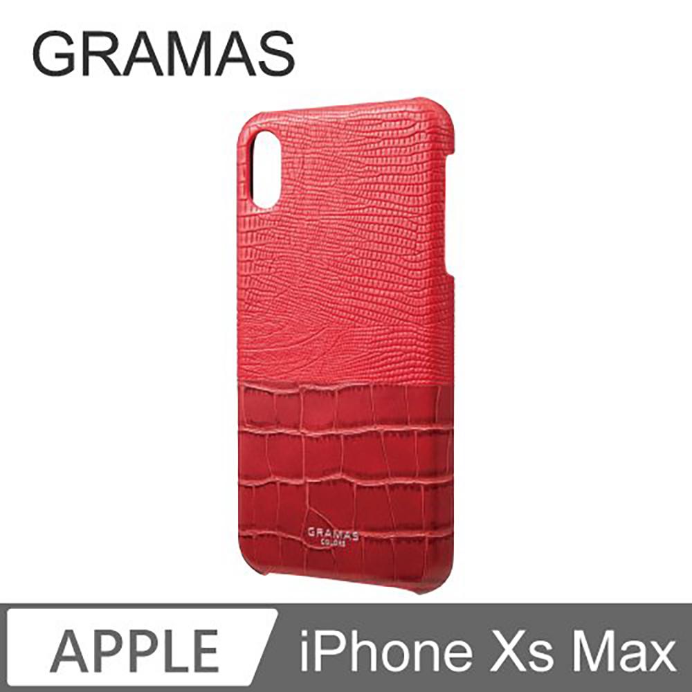 Gramas iPhone Xs Max 日本時尚背蓋手機殼- Amazon (紅)
