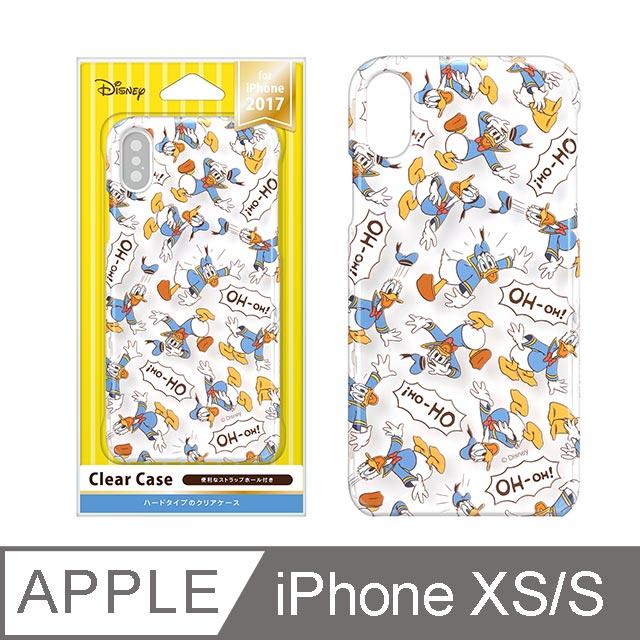 【日本 PGA】iPhone XS/X 5.8吋 迪士尼 透明彩繪 硬殼-唐老鴨