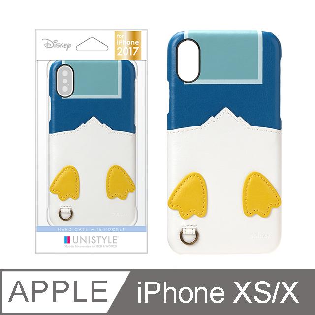 【日本 PGA】iPhone XS/X 5.8吋 迪士尼 口袋造型 手機殼-唐老鴨