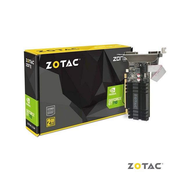 【ZOTAC】索泰 GeForce® GT 710 2GB 顯示卡(Z-GT710-2GD3-L)