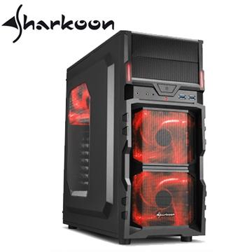 旋剛 勁風者 VG5-W ATX (2)大(7)小 電腦機殼(紅光)