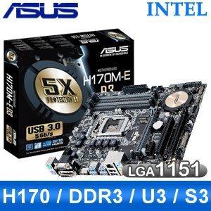 [代理商盒裝] 華碩 ASUS H170M-E D3 H170M E VGA 輸出 :HDMI/DVI-D ...