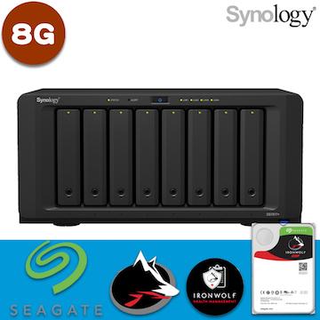 【 IronWolf 6TBx8 】Synology 群暉科技 DiskStation DS1817+(8GB) 8Bay NAS 網路儲存伺服器