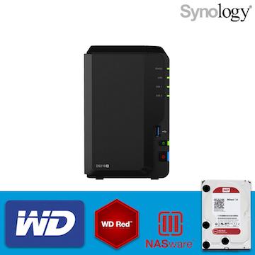 【 WD紅標4TBx2 】Synology群暉科技 DS218+ 2Bay NAS網路儲存伺服器