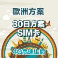 GLOBAL WiFi 歐洲多國 SIM卡 30日方案