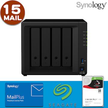 【 IronWolf 3TBx4 】【15組使用者帳號】Synology DS918+ 4Bay NAS MailPlus 郵件伺服器