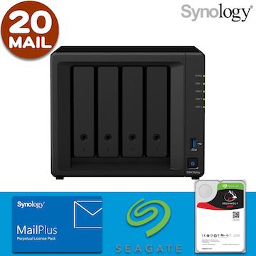 【 IronWolf 4TBx4 】【20組使用者帳號】Synology DS418play 4Bay NAS MailPlus 郵件伺服器
