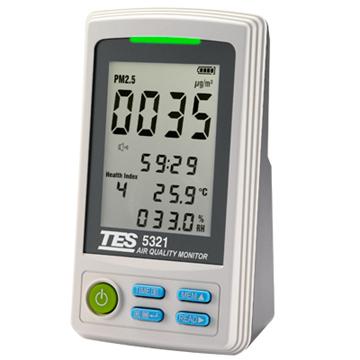 TES泰仕 TES-5321 PM2.5空氣品質監測計 《監測室內環境的PM2.5濃度》
