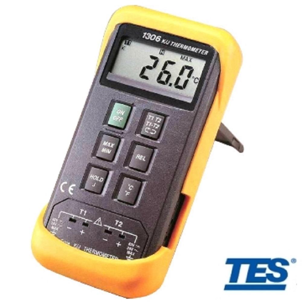TES泰仕 TES-1306 雙通道數位式溫度錶