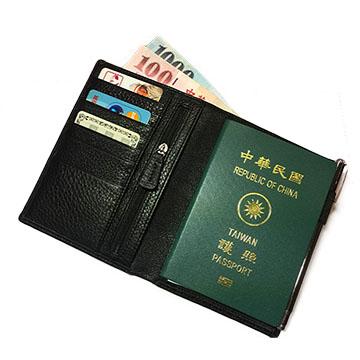 Artkina 經典牛皮護照夾/旅行皮夾