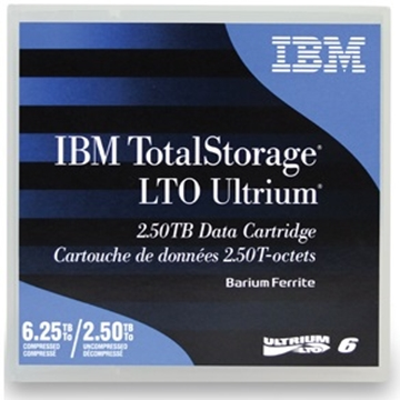 IBM LTO6 磁帶 (2.5 TB native; 6.25 TB with 2.5:1 data compression) 一盒五卷