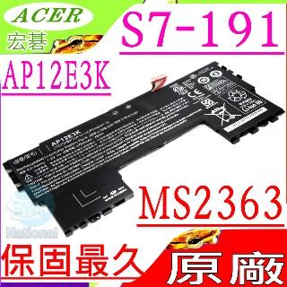 ACER電池(原裝)-宏碁 AP12E3K Ultra S7,  S7-191 ,  11cp5/ 42/ 61-2 ,  S7-191,  11cp3/ 65/ 114-2 ,  ULTRABOOK S7 1...